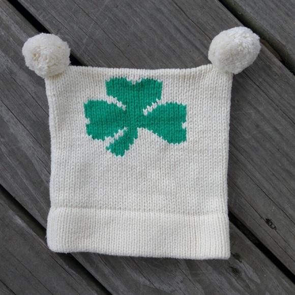 Accessories Kids Knit Shamrock Hat With Pom Poms Poshmark